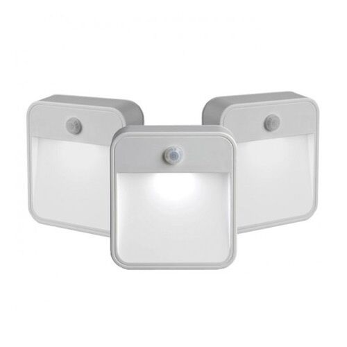 motion sensor battery powered led bathroom hallway night light x3