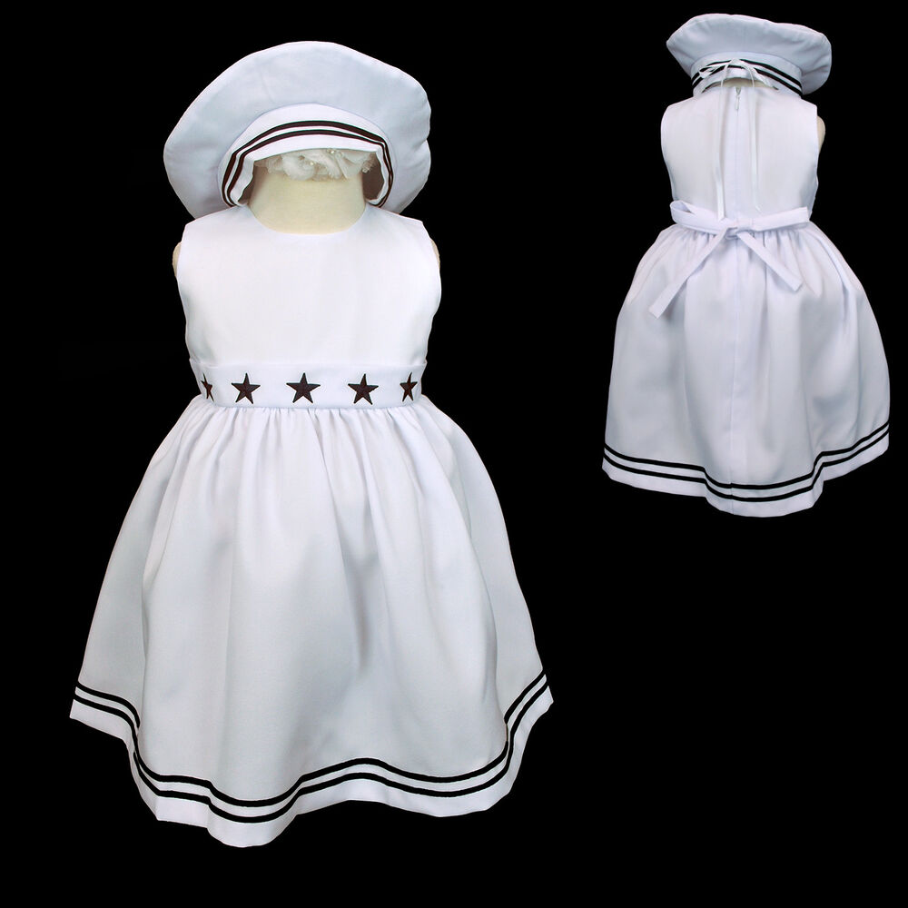 New Baby Girl Sailor Nautical Holiday Party Formal Dress