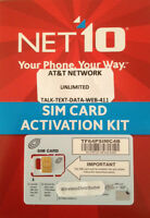 NET10 NANO SIM CARD UNLIMITED AT&T $35 MONTH iPhone 5 5S 5C 6 6+ 6PLUS