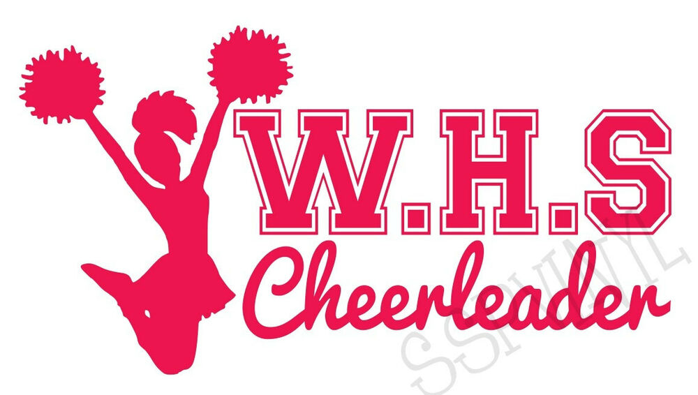 highschool initials cheerleader cheer wall car vinyl decal