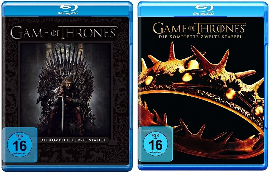 Game of Thrones - Season/Staffel 1+2 * NEU OVP * Blu-ray ...