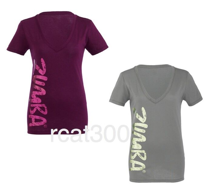 zumba idol v neck t shirt clearance ebay. Black Bedroom Furniture Sets. Home Design Ideas