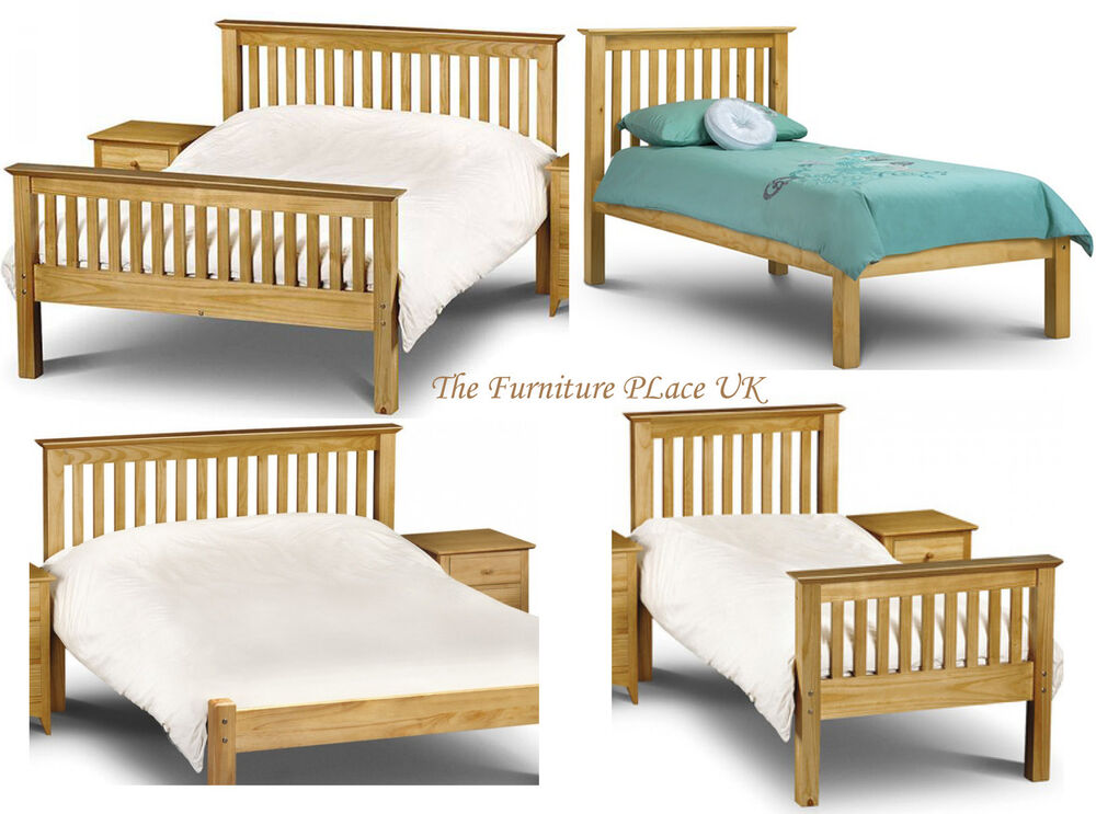 Barcelona Solid Pine Bed Frame In Single Double Kingsize