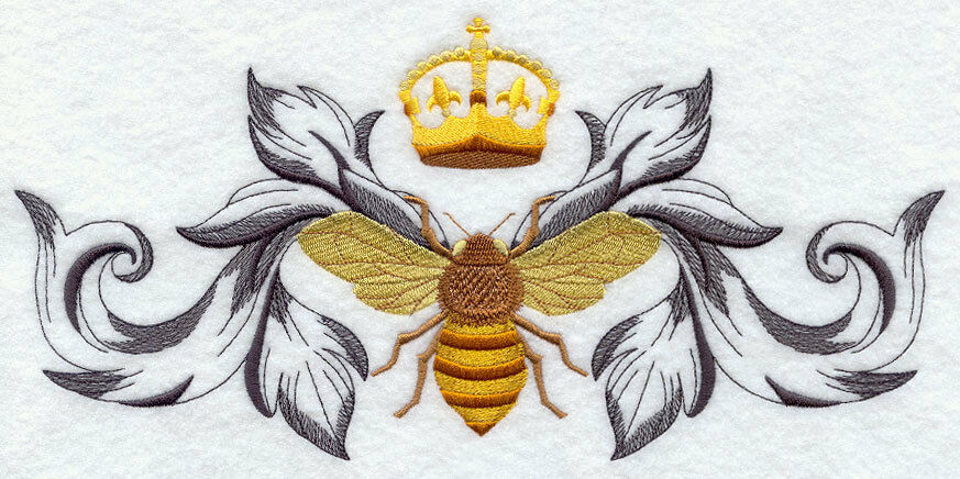 Napoleonic bee stunning design set of bath hand towels