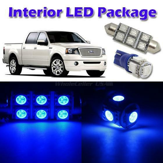 5x blue led light interior bulb package for 2004 2008 ford f 150 supercrew cab ebay 2007 ford f 150 interior lights