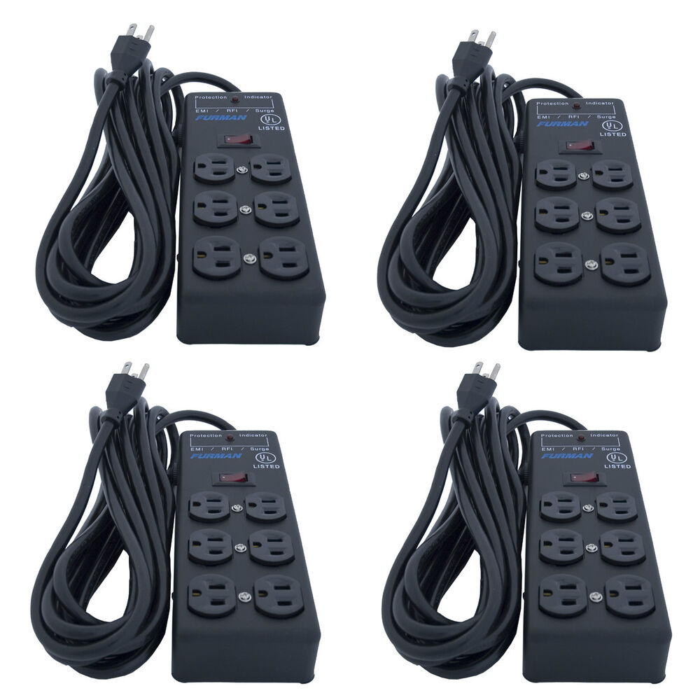 4 units furman ss 6b pro plug 6 outlet ac surge power strip conditioning ebay. Black Bedroom Furniture Sets. Home Design Ideas