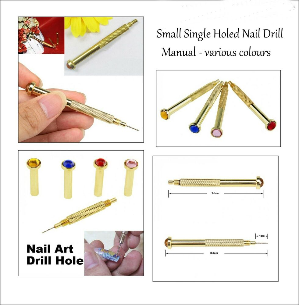 nail piercing drill jeweled handle nail dangle bling