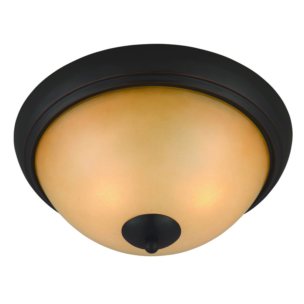 Oil Rubbed Bronze 2 Light Flush Mount Ceiling Light Fixture 163910 Ebay