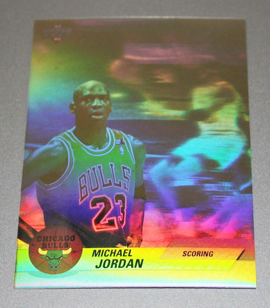 Michael Jordan 92-93 Hologram SCORING Rare NBA Basketball