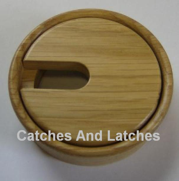 80mm Wooden Desk Table Cable Tidy Port Hole Outlet Grommet