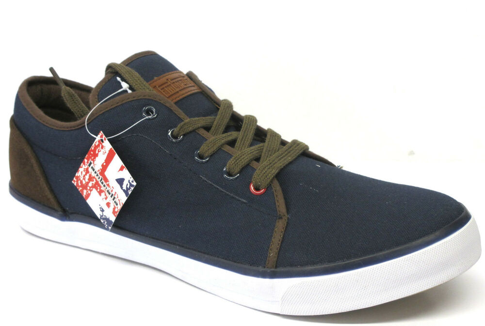 Mens Lambretta Lace Up Casual Canvas Shoes