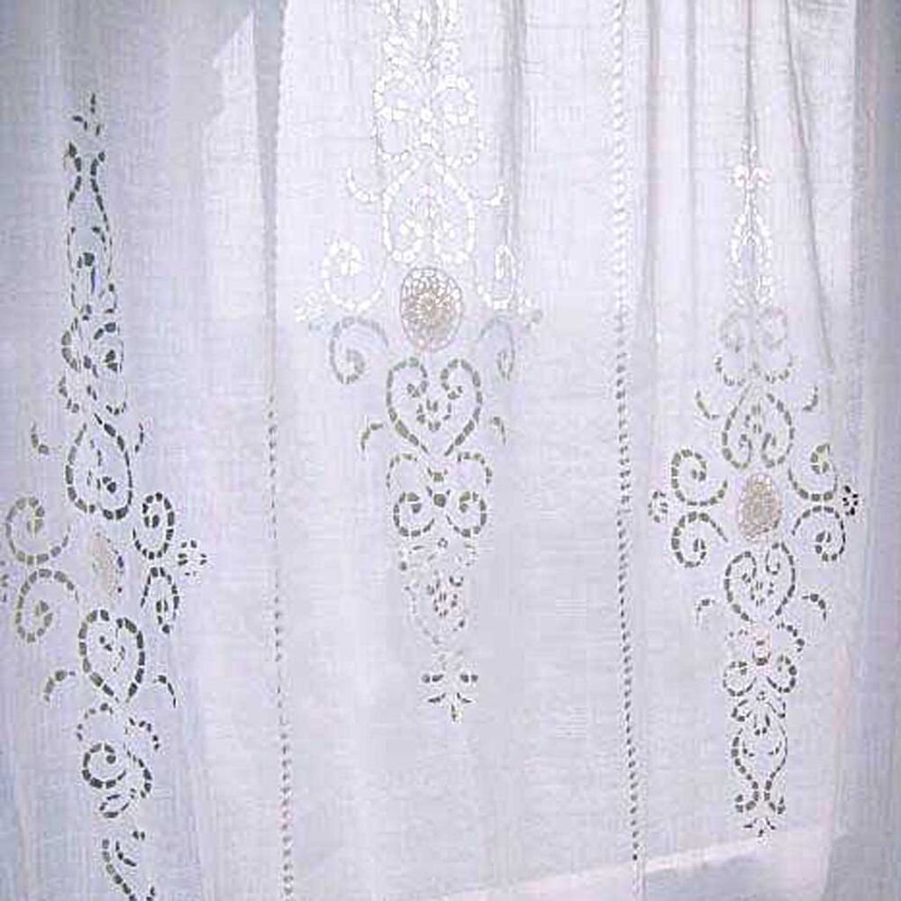 Crochet Cutwork Lace Embroidery Off White Handmade Vintage