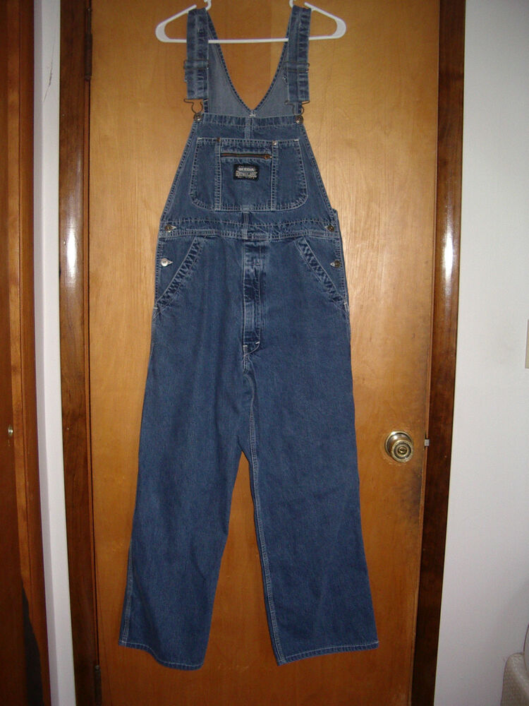 Overalls Are Making A Comeback As The Latest Fashion Trend: IKEDA Bib Overalls Size Medium Made In Canada