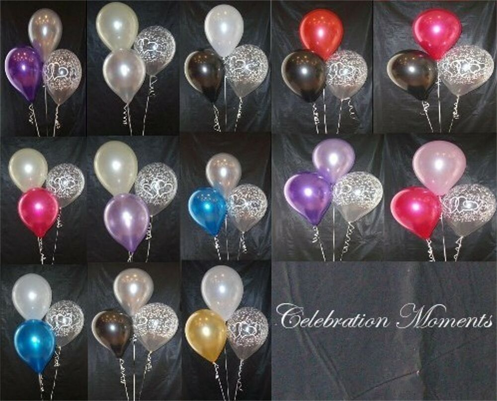 Engagement wedding helium balloon diy decoration clusters for Helium balloon decoration