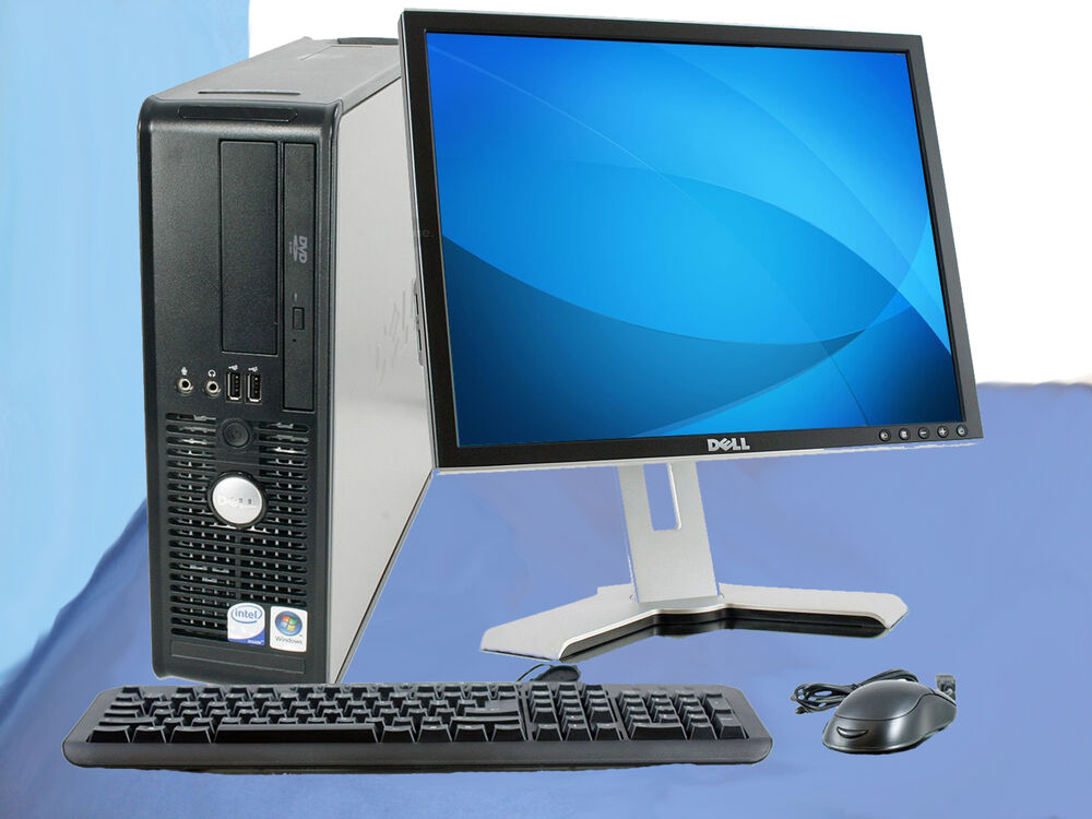 cheap core 2 duo dell desktop computer pc dvd 80gb office. Black Bedroom Furniture Sets. Home Design Ideas