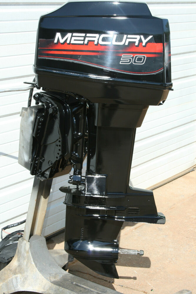 Clean mercury 1996 50 hp 20 inch tilt trim outboard for Trim motor for mercury outboard