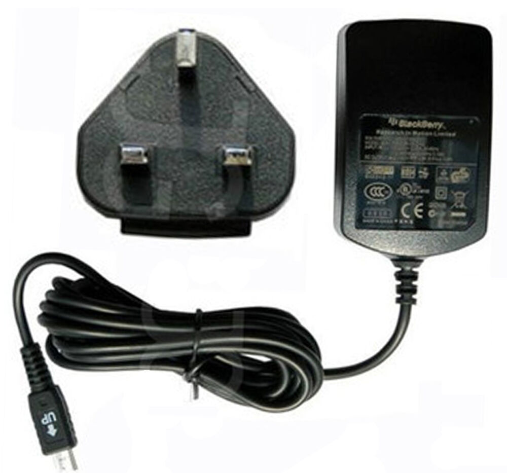 genuine blackberry mains charger wall adapter for z10 q10 9900 9380 9790 9300. Black Bedroom Furniture Sets. Home Design Ideas