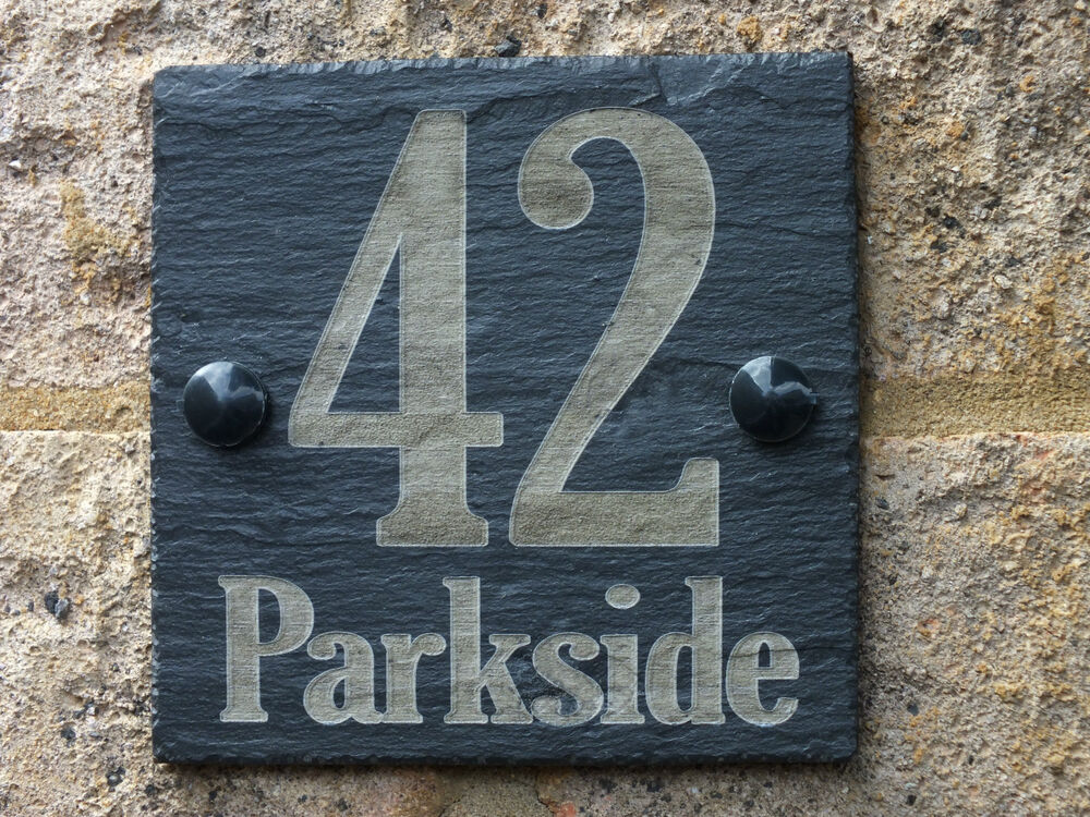 House Number Plaques Slate