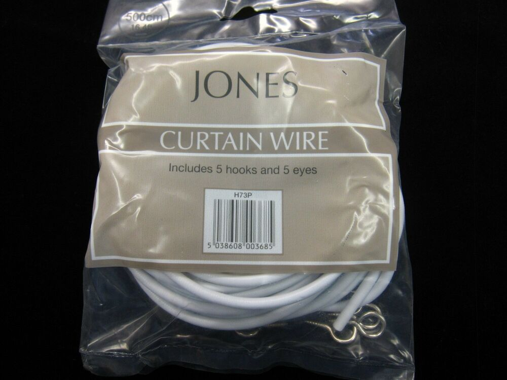 5mts Of Curtain Wire Jones Stretch Spring Net Voile Fabric