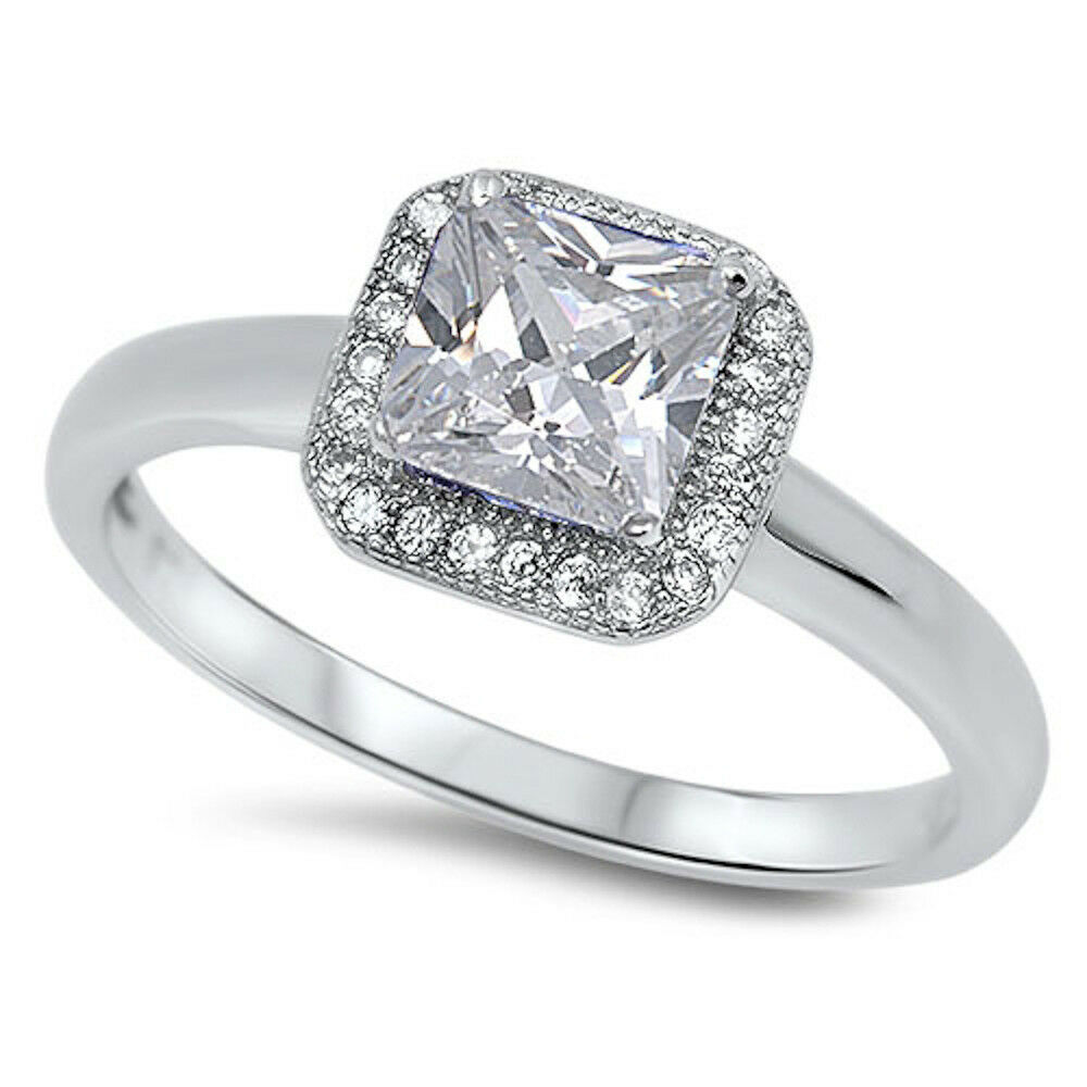 Princess Cut Engagement Rings Princess Cut Engagement Rings Less Than 1000