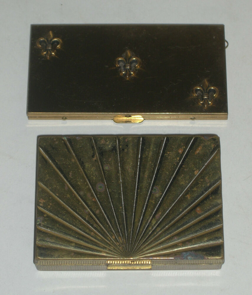 Pc Vintage Brass Metal Makeup Powder Compact Cases (F1) : eBay