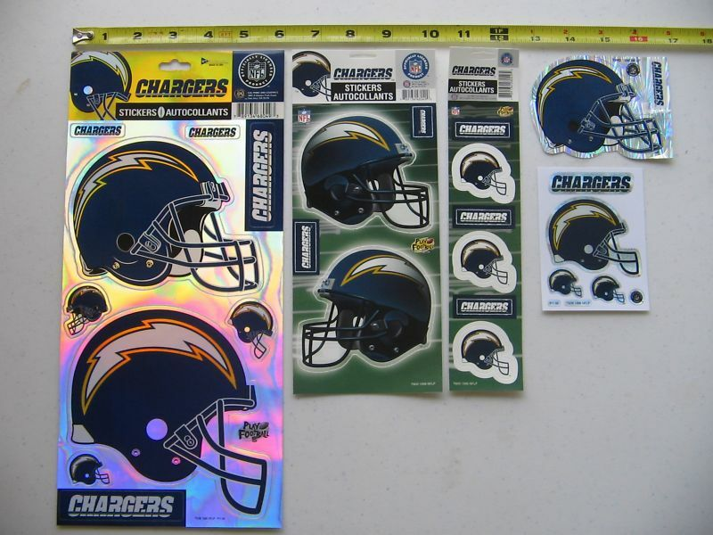 San Diego Chargers Nfl Football Sticker Decal Lot Rare Ebay