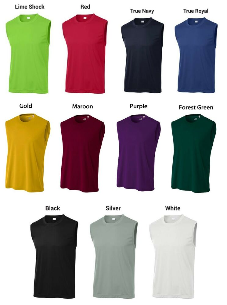 Dry zone competitor moisture wicking performance mens s for Mens moisture wicking sleeveless shirts