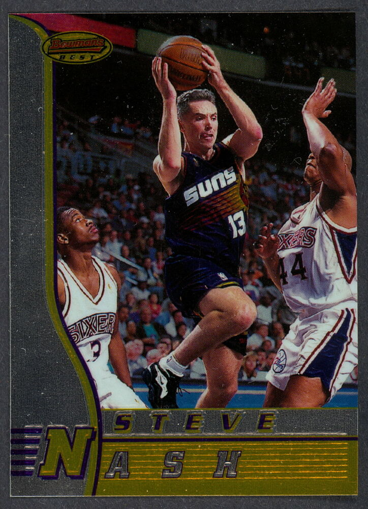 1ae7f6c51f2 Details about 1996-97 TOPPS BOWMAN BEST ROOKIE STEVE NASH RC R18 SUNS L A  LAKERS