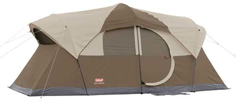 New Coleman Weathermaster Screened 10 Person Two Room