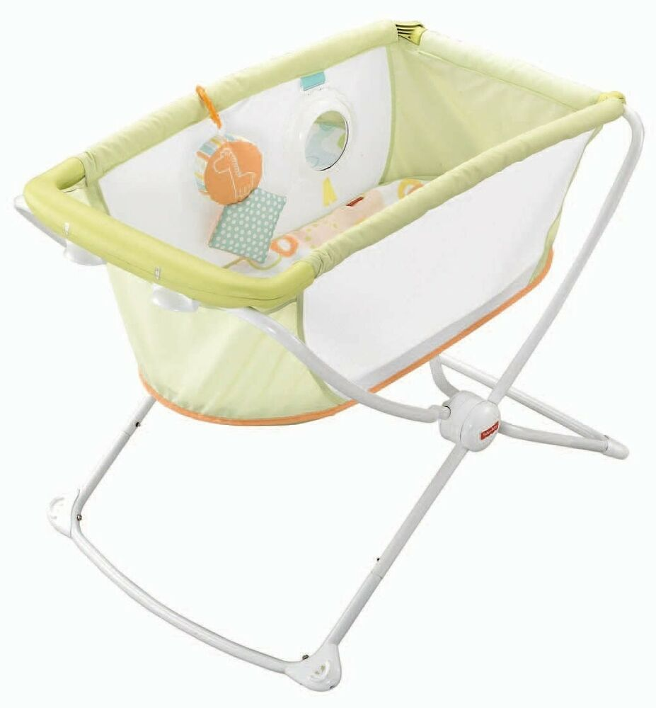 New Fisher Price Rock 39 N Play Portable Bassinet With: portable bassinet