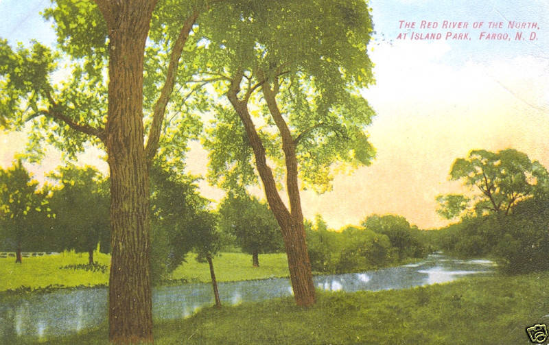 Fargo Nd The Red River Of The North At Island Park Ebay