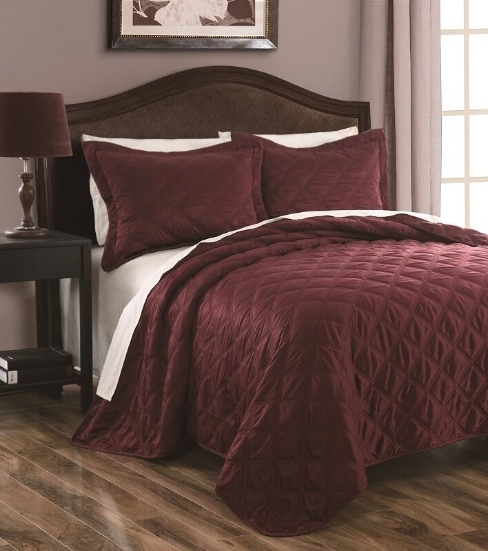 3 Pcs Queen King Madison Quilted Coverlet Set Ebay