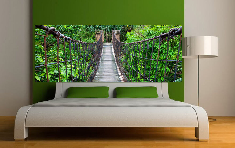 Sticker t te de lit d coration murale passerelle r f 3622 for Decoration murale vegetale