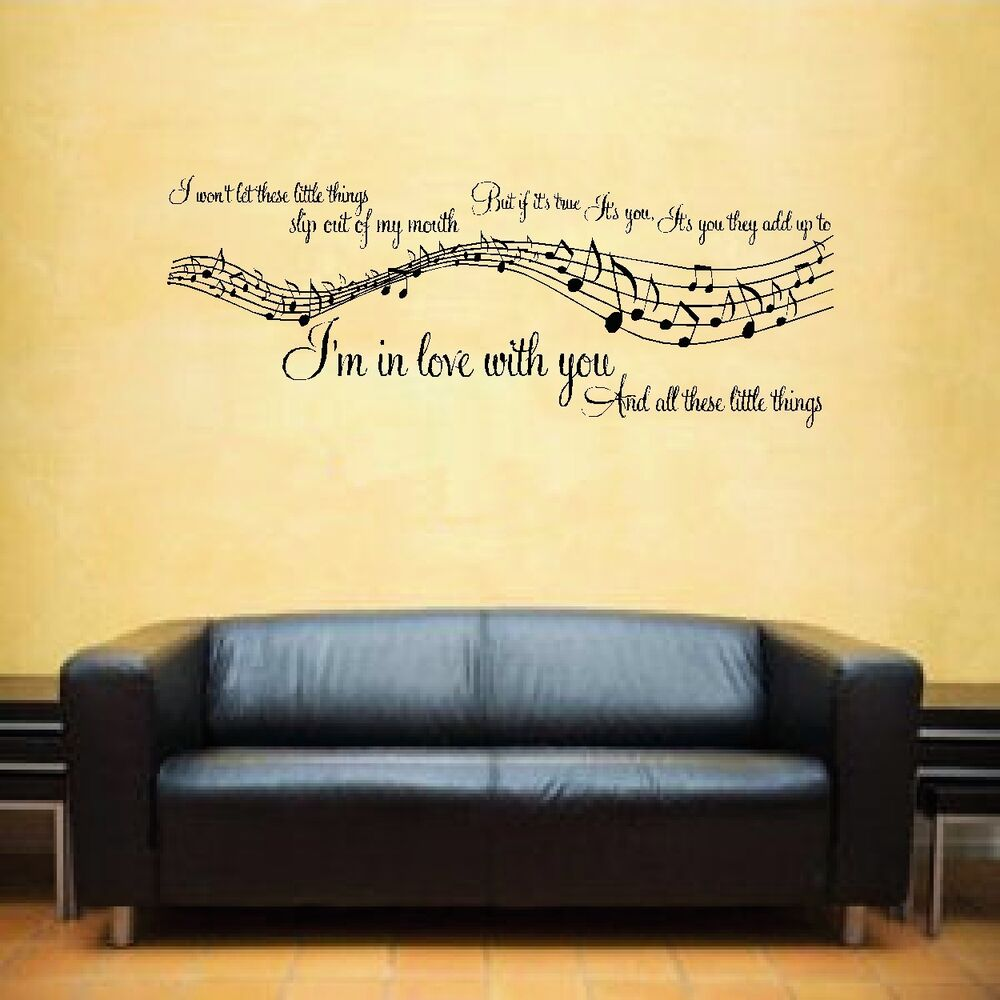 Wall Art Stickers Song Lyrics : D one direction little things music song lyrics notes