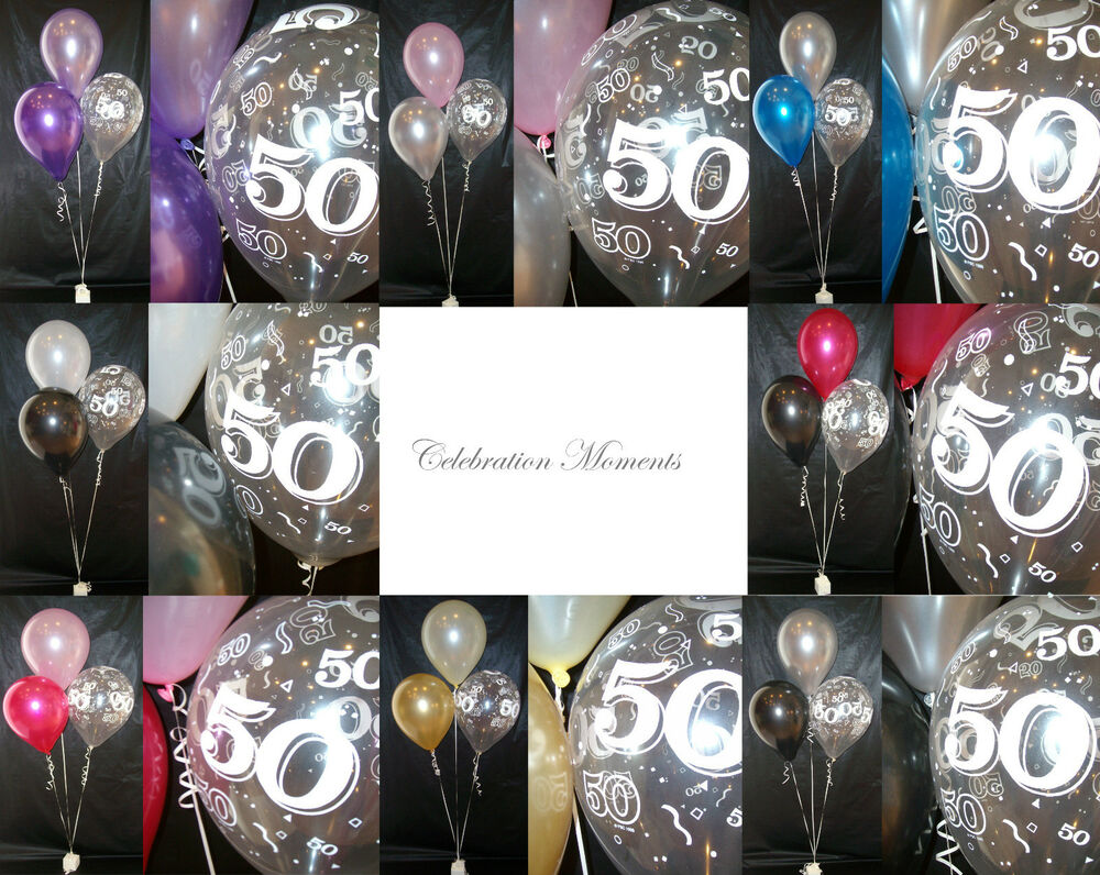 Happy 50th birthday party helium balloon decoration diy clusters kit 10 tables ebay