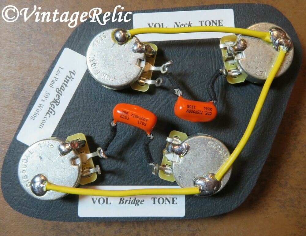s l1000 wiring kit orange drop 022uf caps cts 550k long shaft pots for gibson les paul wiring diagram at edmiracle.co