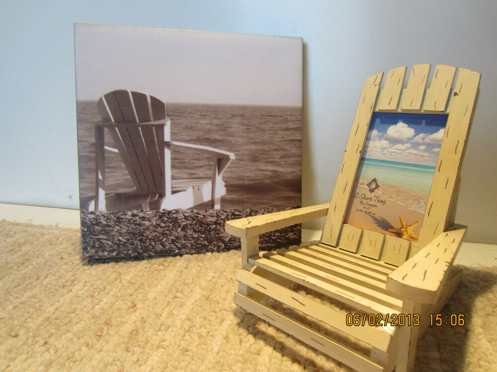 ADIRONDACK CHAIR WALL DECOR PICTURE FRAME EBay