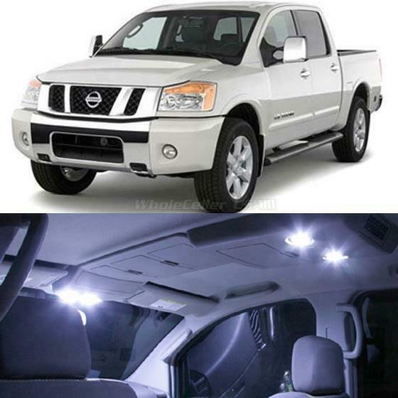 10 white led interior lights bulbs package kit for 2004 - Nissan titan interior accessories ...
