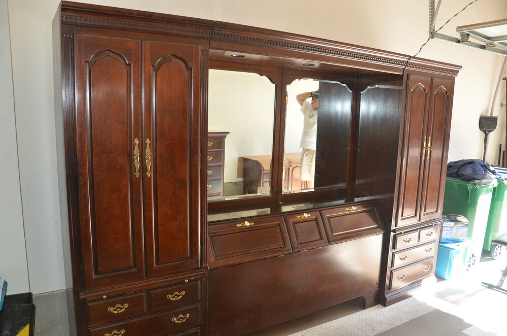 Thomasville Collector S Cherry Queen Full Bedroom Set Ebay