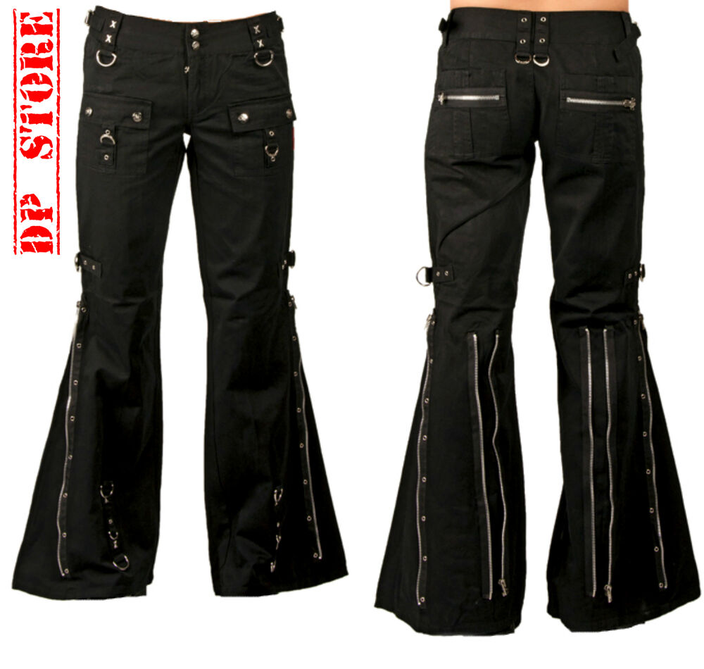 Beautiful Punk Rave Black Gothic Punk Removable Skirts Pants For Women - DarkinCloset.com