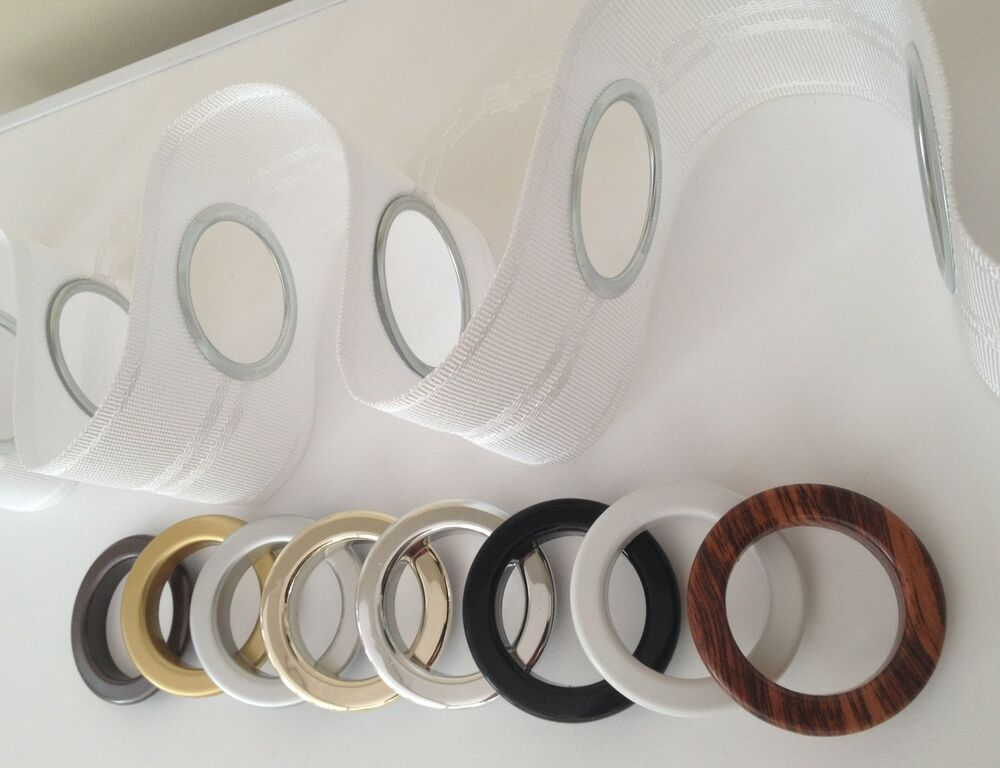 Eyelet Heading Curtain Tape And Rings Per Metre 8 Choices