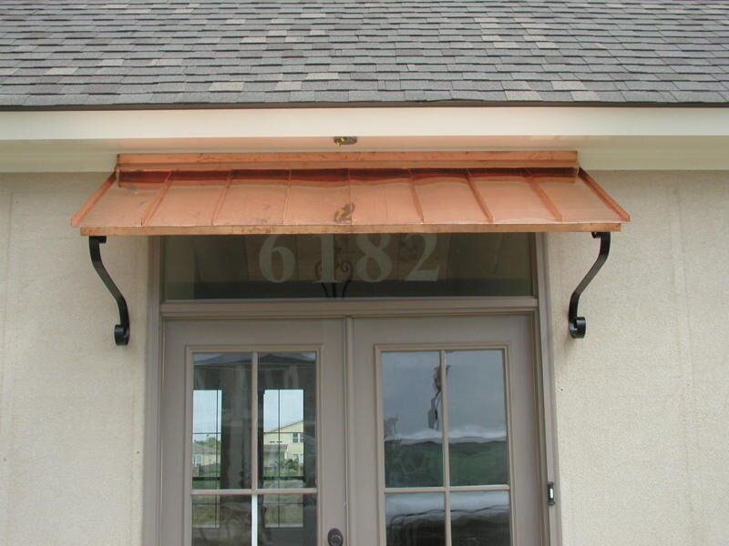 Door Amp Window Awnings : Ft copper window or door awning with decorative scrolls