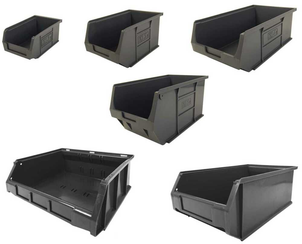 Recycled plastic storage boxes - New Eco Xl Grey Plastic Storage Bins Various Sizes British Made 100 Recycled Ebay