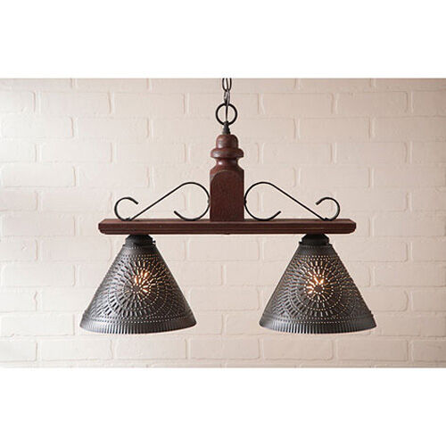 Medium Wellington Pendant Shade Light In Plantation Red