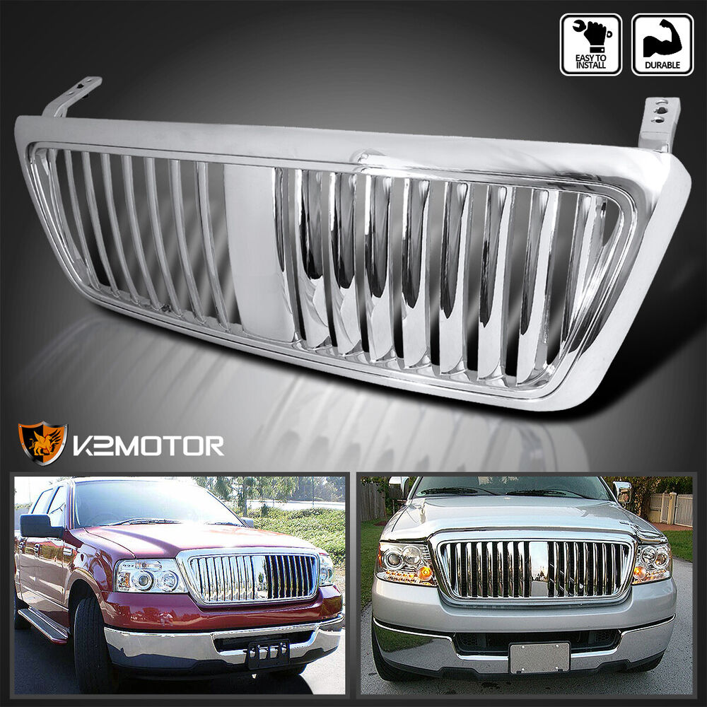 2004 2008 Ford F150 F 150 Vertical Grill Grille Chrome Ebay