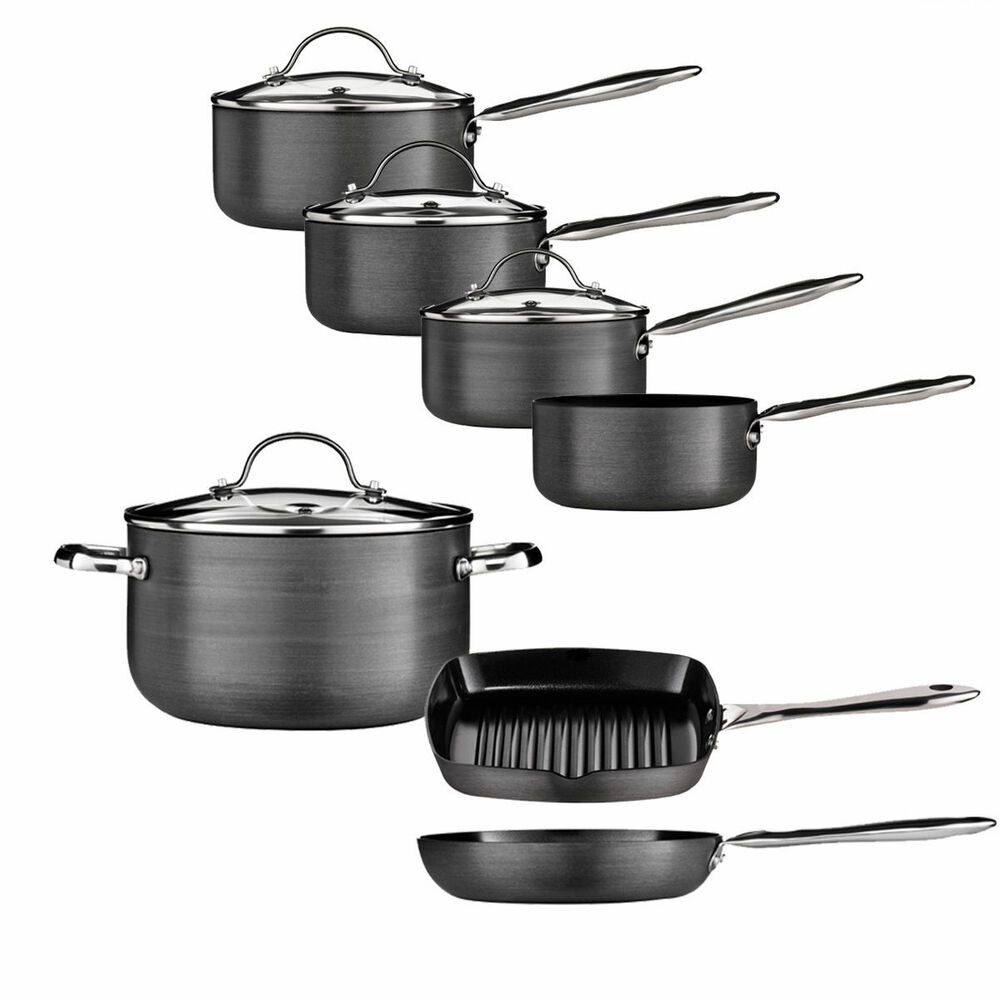 Non Stick Tenzo H Series Aluminium Pan Set Ceramic Coated