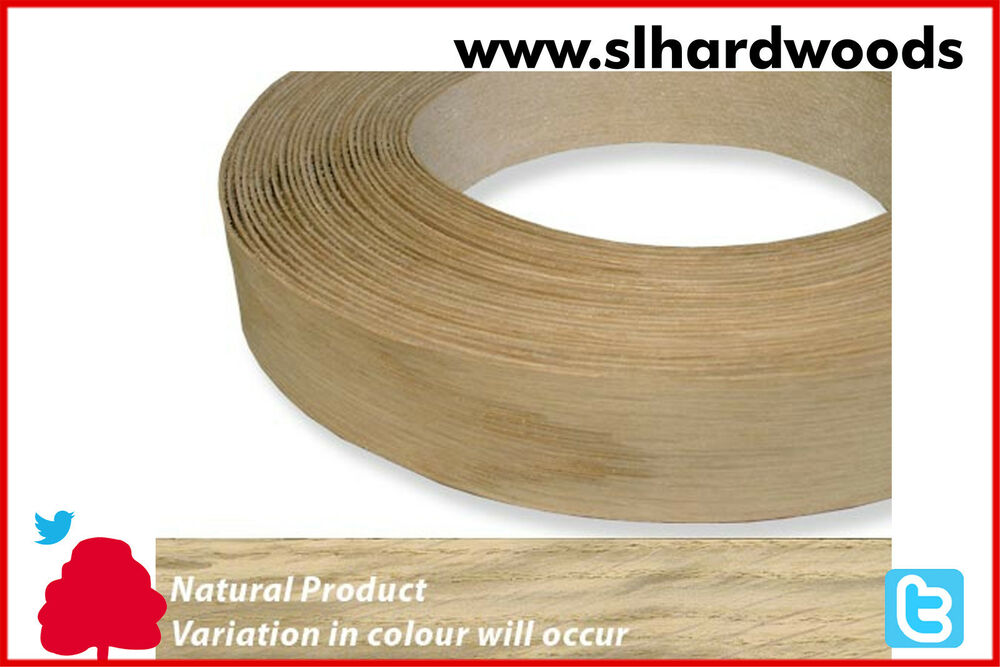 Real Wood Veneer Iron On Edging Tape Pre Glued White Oak