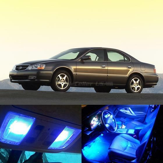 13x Blue LED Light Interior Bulb Package For Acura TL 1999