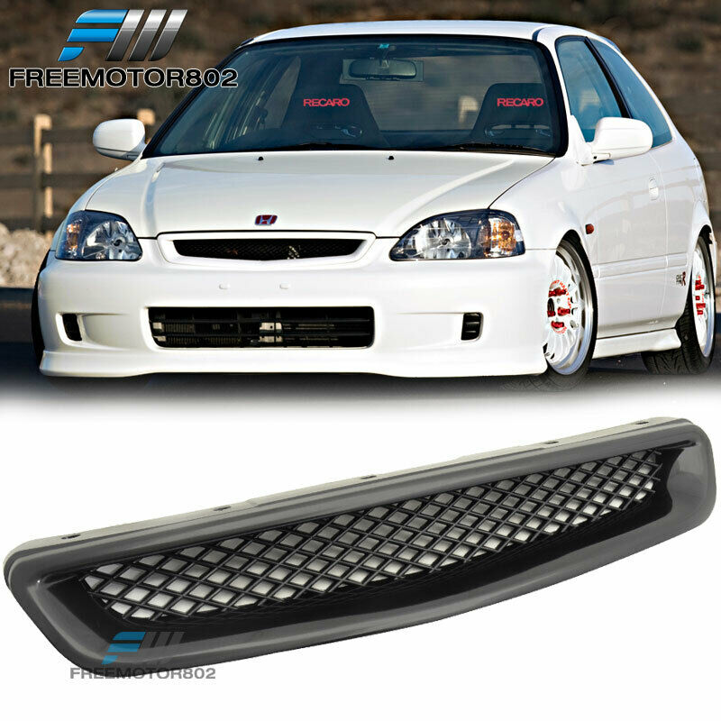 for 96 98 honda civic ek cx dx ex hx lx front hood grill grille type r abs ebay. Black Bedroom Furniture Sets. Home Design Ideas