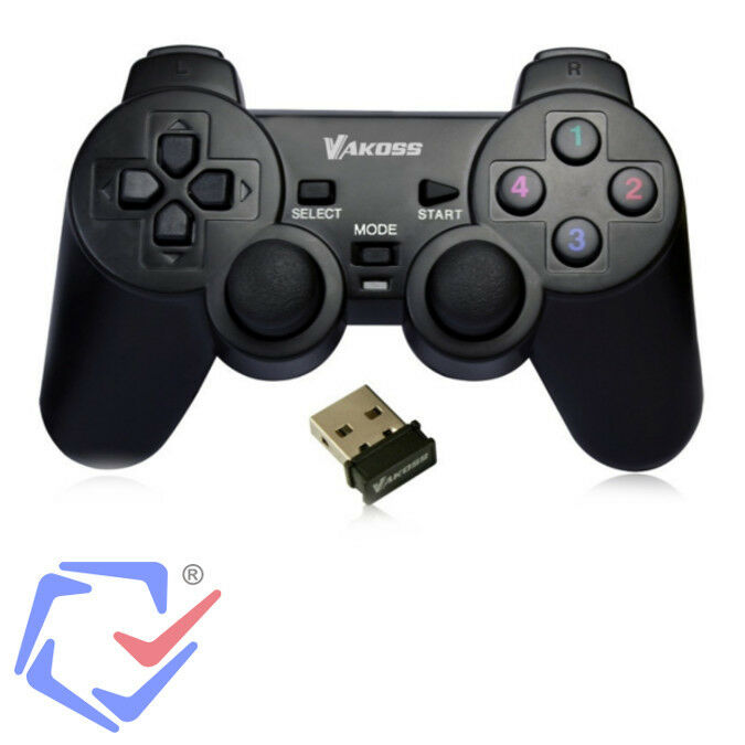 wireless funk controller kabelloses gamepad f r pc. Black Bedroom Furniture Sets. Home Design Ideas